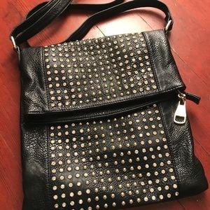 Steve Madden Black Rhinestone Studded Handbag